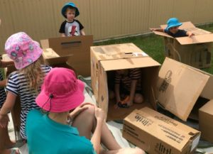 3 year old kindy box play