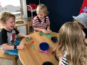 3 year old preschool play doh