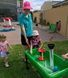 3 year old preschool water play