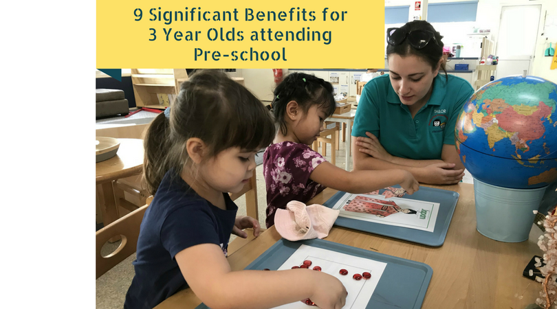 Nine Significant Benefits for 3 Year Olds attending Pre-school