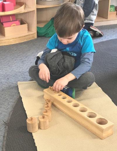 Brookllyn Kindy Montessori cylinders