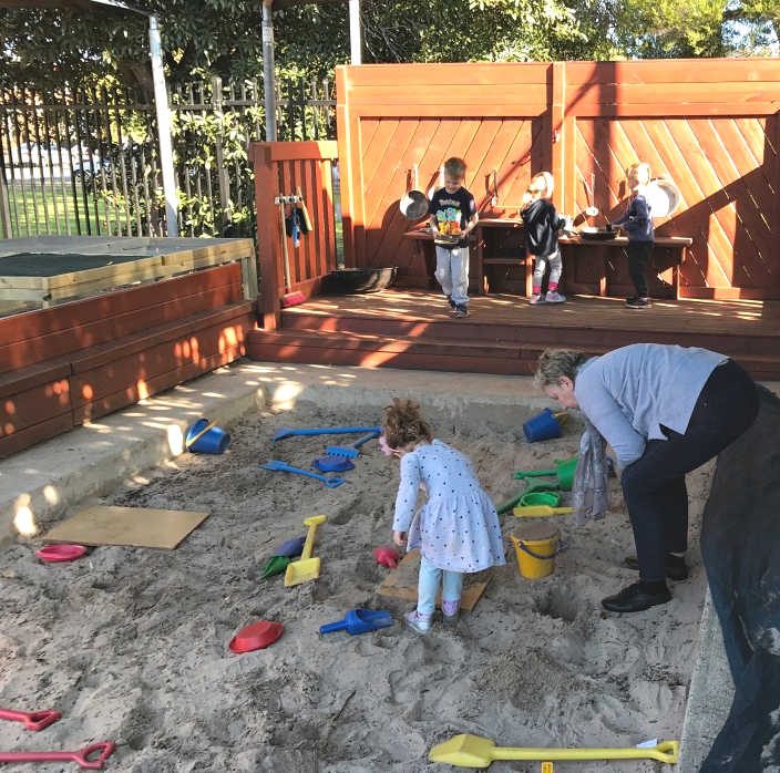 sandpit Brooklyn Kindy